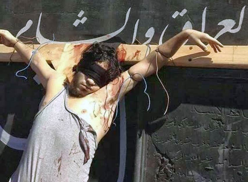 Crocifissione di cristiani in Siria